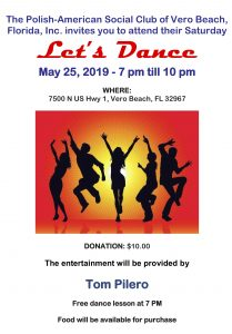 Let's Dance! @ Polish American Social Club of Vero Beach